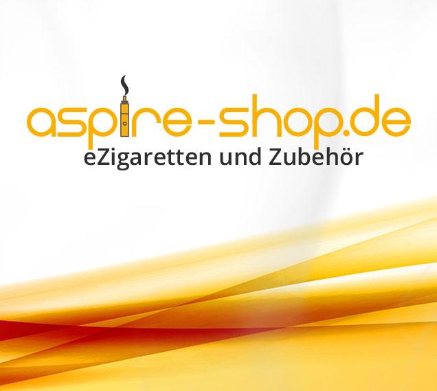 Teaser mit Logo vom Aspire-Shop