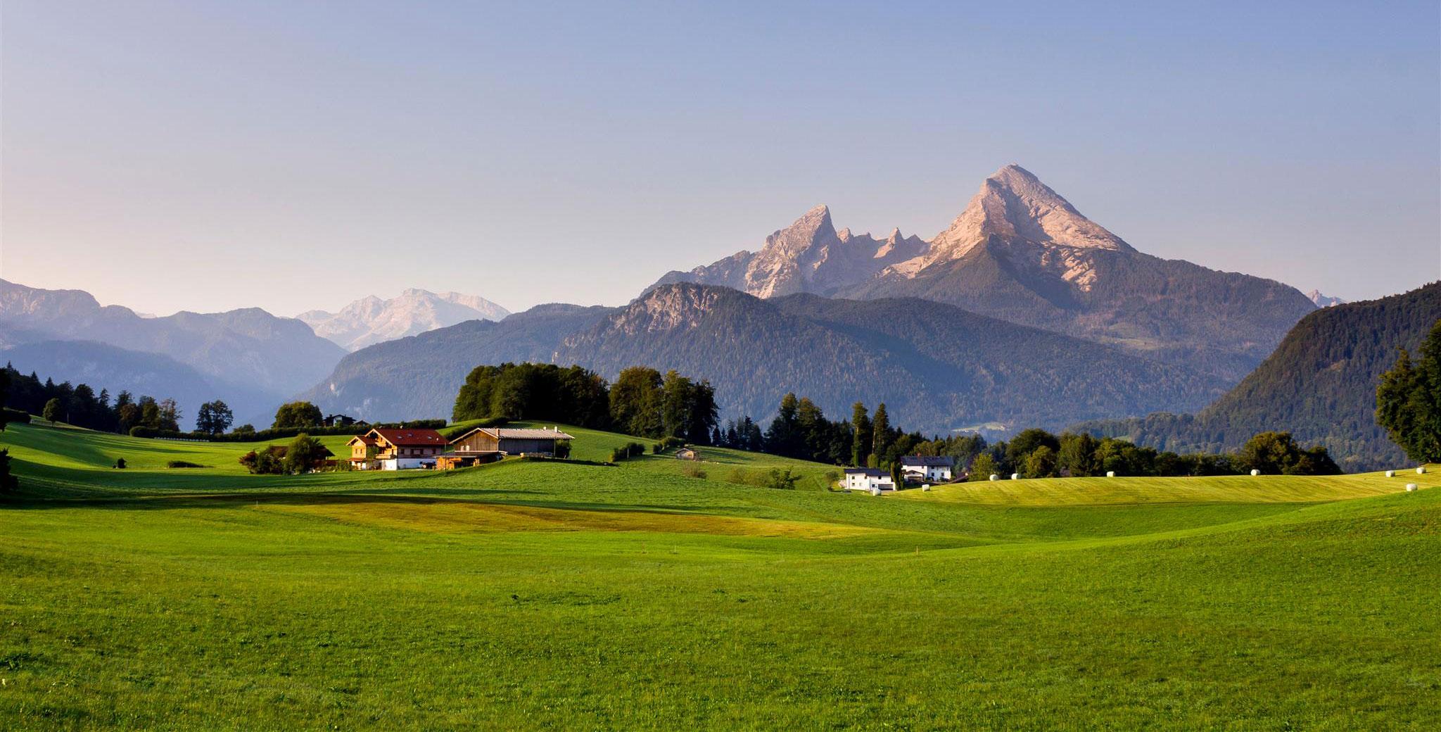 Hintergrund Berglandschaft Berchtesgaden